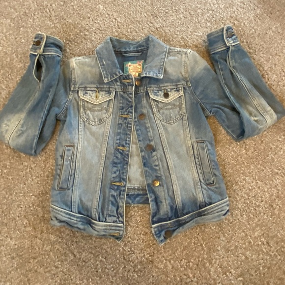 Abercrombie & Fitch Medium Distressed Jean Jacket